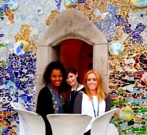 Ana, Me and Margo at Casa Batlló