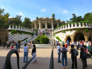 A picture from the outside of the paid area of Park Güell because we were too cheap to actually go inside