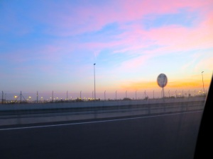 Saying goodbye to Spain as the sun rises