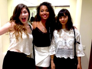 Me, Ana and Juliette off to Razzmatazz in all black and white