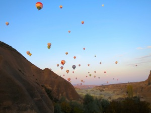 Hundreds of hot air balloons