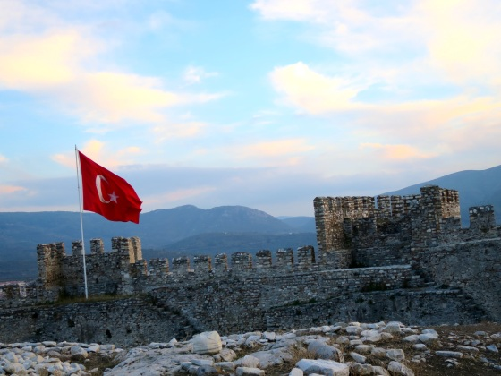 On top of a Turkish Castle