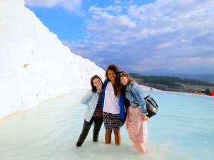 Jenny, Ana and I at Pamukkale