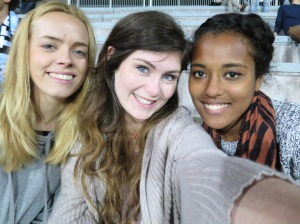 At the local soccer game with Margo and Ana